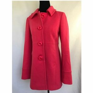 *J CREW* Pink Wool Lady Day Peacoat